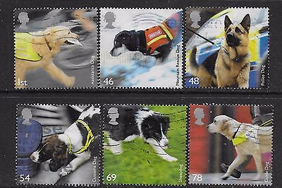 1) GB Stamps  2008 Working Dogs Full Set Good Used.