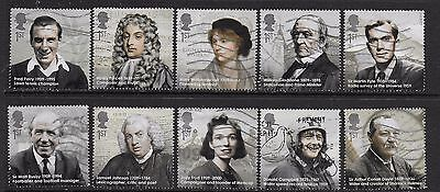 1) GB Stamps  2009 Eminent Britons Full Set Good Used.