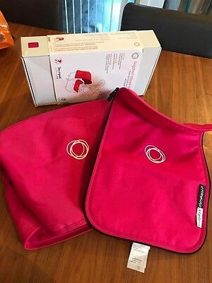 Bugaboo Cameleon 3 Fabric Set. In HOT PINK. Discontinued. Hood & Apron. Boxed!