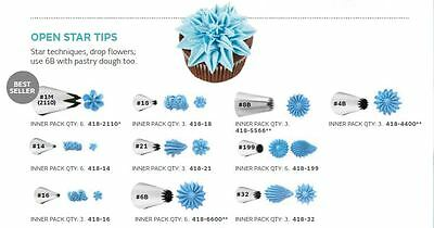 Wilton Open Star Cake Decorating Nozzle Icing Tips