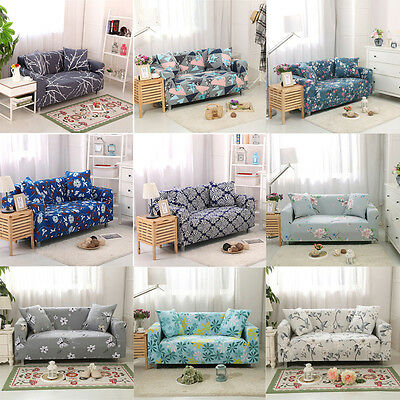 1 2 3 Seat Sofa Cover Slipcover Stretch Elastic Couch Furniture Protector Fit