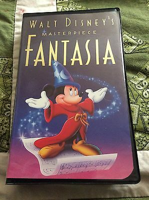 Walt Disney's Masterpiece Fantasia VHS #1132 from 1991 Excellent Condition.