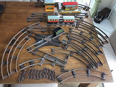 Hornby O Guage Trains, Station, Track, signal box, points, cross track Meccano