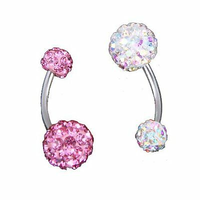 2 Bauchnabelpiercing Bauchpiercing Nabelpiercing 1.6mm GY J7W0