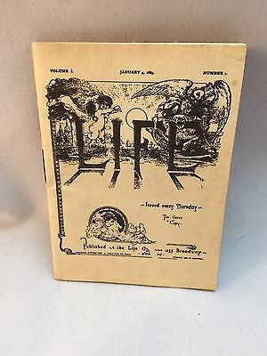 First Edition Life Magazine Volume 1 No1 January 4 1883 Small Illus.Booklet
