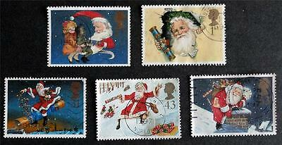 Great Britain 1997 'Christmas' SG2006/2010 Used Set