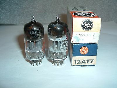 TWO vintage 12AT7 G.E.  TUBES   N.O.S. TESTED
