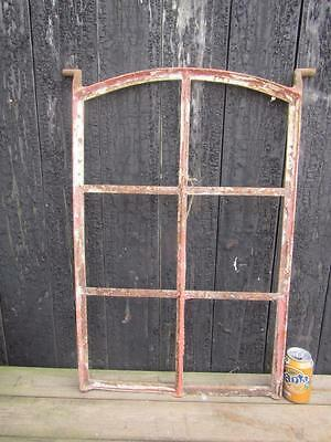 Vintage Metal Framed  Window French Industrial Chic Design Reclaimed 76X49Cm