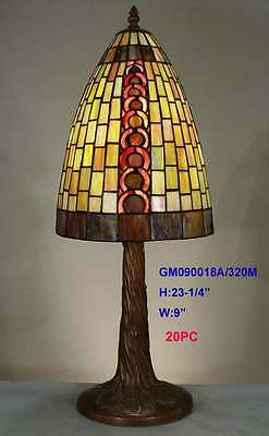 Tiffany Leadlight Stained Glass Geometric Accent Table Buffet Lamp Night Light