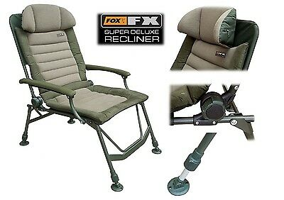 Fox FX Super Deluxe Recliner Chair With Arms - CBC047 NEW Carp Fishing