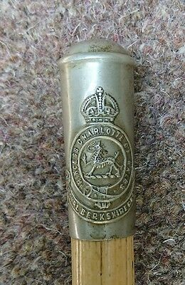 Royal Berkshire Regiment - Bamboo Swagger Stick - WWI (?)