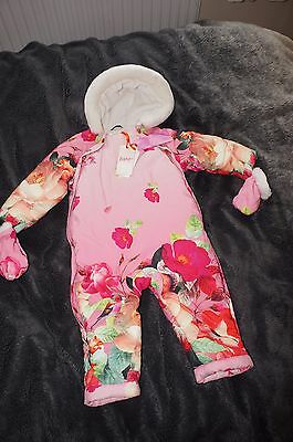 Ted Baker Baby Girls   Snowsuit/ All In One Coat 12-18 Months