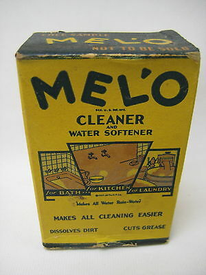 Vintage Melo Cleaner Free Sample Box, Full, Unopened, Laundry Room/Kitchen Decor