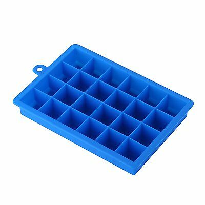 15 Cavities Silicone Mold Tool Jelly Ice Cubes Tray Pudding Mould Blue