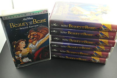 Beauty and the Beast (VHS, 1992) LOT OF 7 - Walt Disney Black Diamond Classic