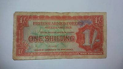 British Armed Forces 1 Shilling Special Voucher