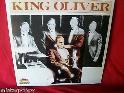 KING OLIVER 1923/1930 JAZZ LP 1984 ITALY MINT- Unique Art Cover