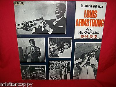 LOUIS ARMSTRONG and his Orchestra 1944/1945 JAZZ LP 1971 ITALY MINT-