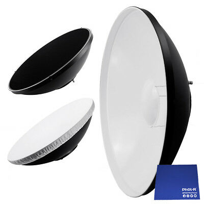 "Phot-R 16"" 40cm Beauty Dish Diffuser Honeycomb Grid Bowens Mount Chamois Cloth"