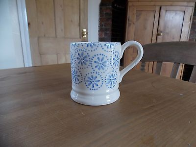 Emma Bridgewater 1/2pt mug Blue Daisy Spot Discontinued 2014 Perfect Unused