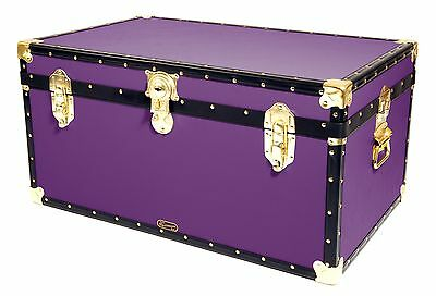 "PURPLE Traditional British Mossman Made 33"" Storage Otterman Trunk Toy Box Chest"