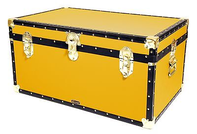 "YELLOW Traditional British Mossman Made 33"" Storage Otterman Trunk Toy Box Chest"