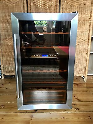 Hoover Wine Fridge/Cooler - 33 x 75cl, Dual Temp Control HWC2335X w/User Guide