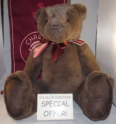 UNDER HALF PRICE! Charlie Bears First Bear LARGE CHOCOLATE BROWN (Brand New!)