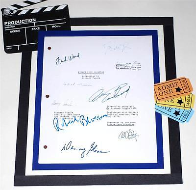 Escape From Alcatraz Signed Script Rpt Clint Eastwood Patrick Mcgoohan Fred Ward