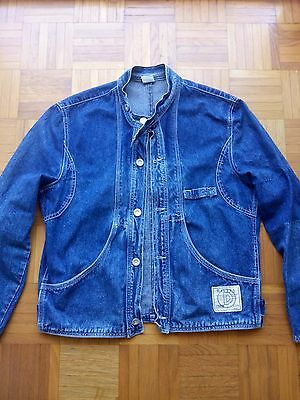 Jacket vintage DIESEL '80 jeans giacca blue tg M logo MADE IN ITALY rare