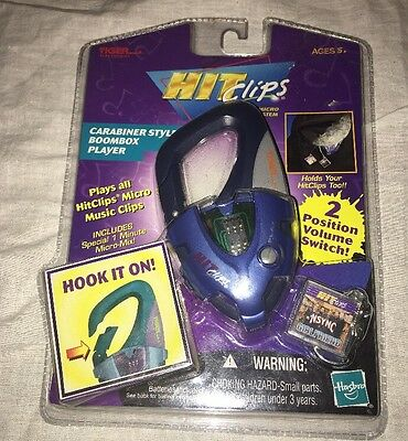 Tiger electronics Hit Clips Carabiner Style Boombox Player *NSYNC GIRLFRIEND NEW