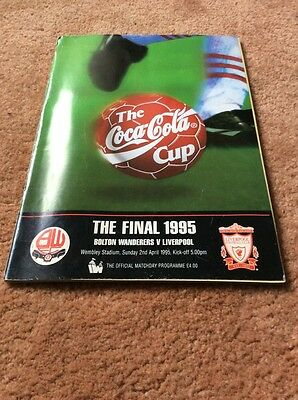 The Coca Cola Cup Final 1995 Bolton Wanderers v Liverpool Match Day Programme