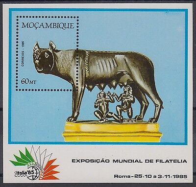 XG-AM838 MOZAMBIQUE IND - Philatelic Expo, 1985 Italy, Rome MNH Sheet