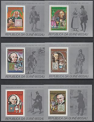 XG-AM783 GUINEA-BISSAU - Rowland Hill, 1978 Stamp On Stamp, 6 Sheets Imperf. MNH