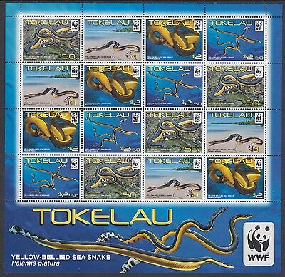 XG-AM058 TOKELAU ISLANDS - Wwf, 2011 Sea Snake, Nature, Wild Animals MNH Sheet