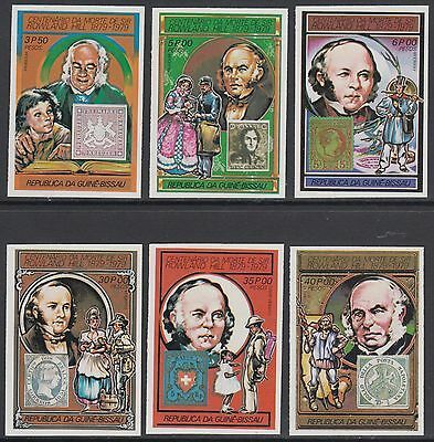 XG-AM779 GUINEA-BISSAU - Rowland Hill, 1978 Ann. Stamp On Stamp, Imperf. MNH Set