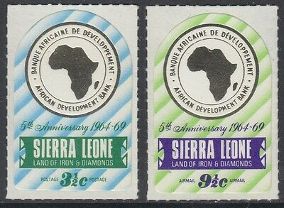XG-AM751 SIERRA LEONE IND - Maps, 1969 African Development Bank MNH Set