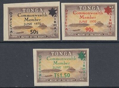 XG-AM756 TONGA IND - Definitives, 1970 Official Airmail Ovp. Sc.CO031-3 MNH Set