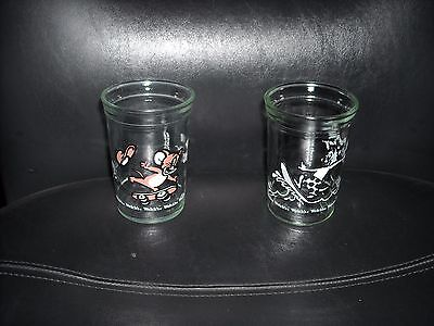 Set Of 2 Welch's Tom & Jerry 8 Ounce Glasses 1990 Surfer/skateboard