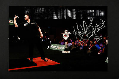 KEVIN PAINTER THE ARTIST DARTS HAND SIGNED PHOTO AUTHENTIC GENUINE + COA - 12x8