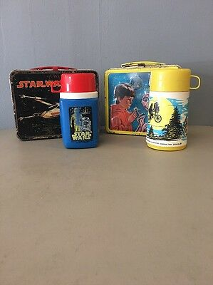 Lot Of 2 Vintage Lunch Boxes E.T. And Star Wars