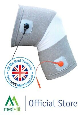 Med-Fit Dual Silver Conductive Knee Garment For TENS & Muscle Stimulation