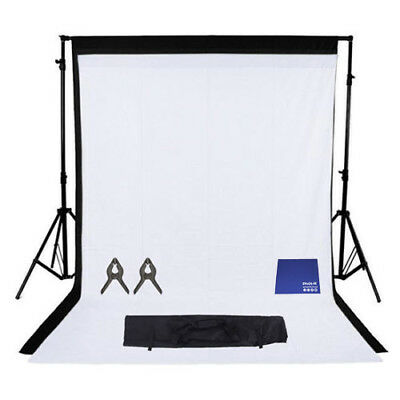 Phot-R 2mx2.6m Stand 2x 1.6mx2.1m Non-Woven Coloured Background Chamois Cloth