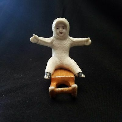 Antique German  Snow baby,  Riding Sled