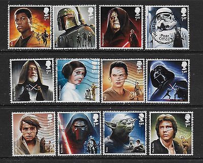 1) GB Stamps 2015  Star Wars Full Set. Good used.