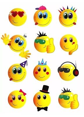 72 Childrens SmIley Temporary Tattoos Kids Loot Party Bag Fillers Boys Girls 2