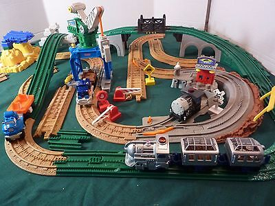 Geo Trax Collection Trains Buildings Tracks 50+ Pieces By Fisher Price