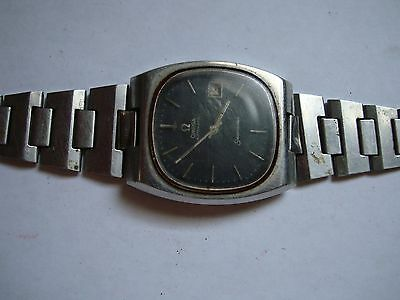 Part Watch 1974s Vintage OMEGA Seamaster Dial Black Cal 1012  As Is Parts AS IS