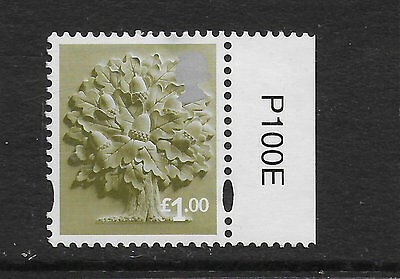 1) GB Stamps 2015. England Definitive £1.00 Oak Mint NH.