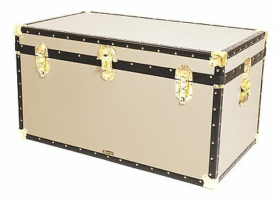 "CREAM Traditional British Mossman Made 36"" Cabin Chest Boarding School Trunks"